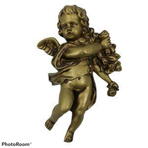 Vintage Norcrest Gold Cherub Angel